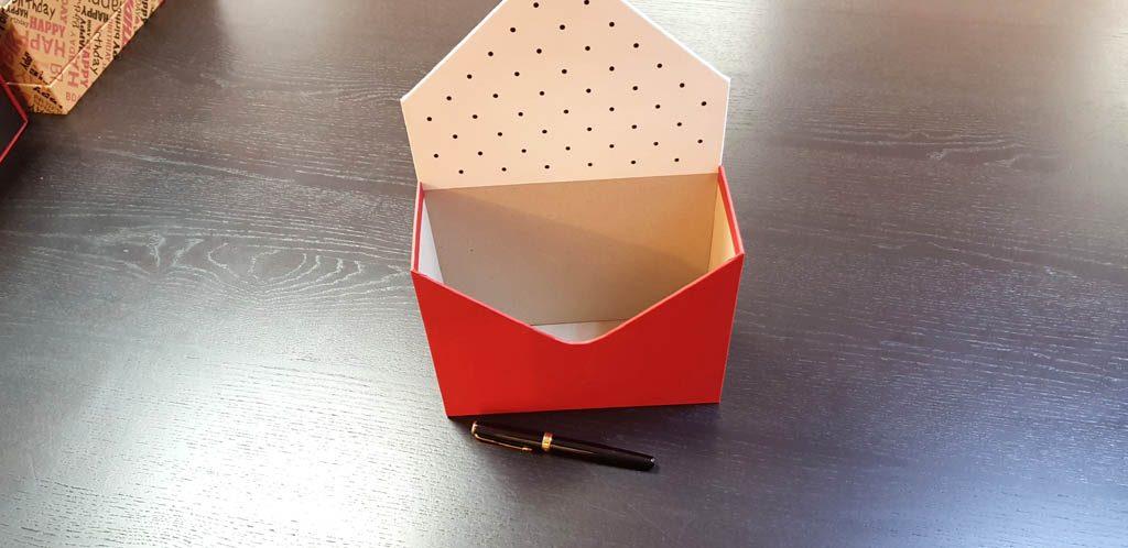 Cutie de lux in forma de plic pentru aranjamente florale - 18