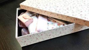Cutie de lux pentru trusou botez fetite