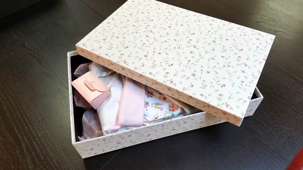Cutie de lux pentru trusou botez fetite - 3