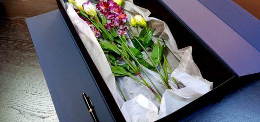 Cutie rigida de lux pentru flori