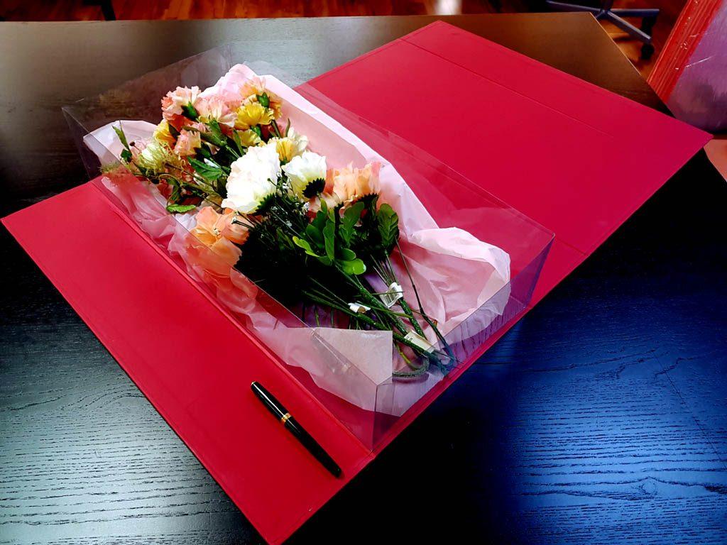 Cutie rigida de lux pentru flori - 6