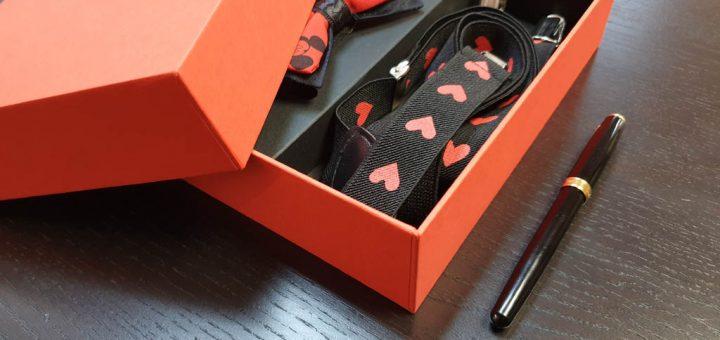 Cutie premium pentru set cadou papion si bretele (model 6065-6068)
